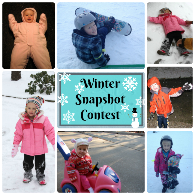 winter snapshot collage example