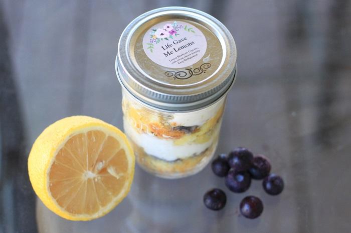Sierra's cupcake in a jar, lemon