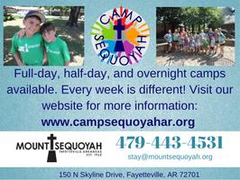 Mt. Sequoyah ad, Summer Camp