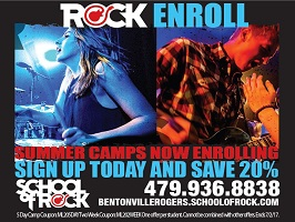 School of Rock Summer Camp ad, 2017