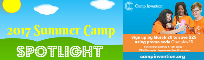 camp invention summer spotlight banner