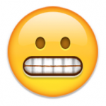 worried nervous emoji