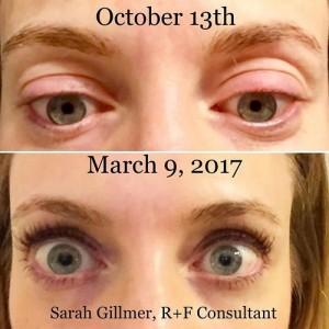 Sarah Gillmer, llash boost results 500