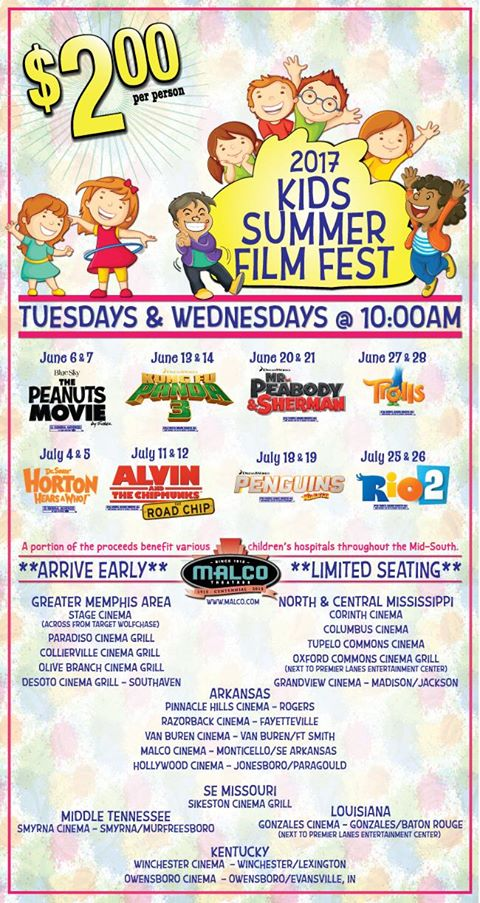 Outings Under $20: Malco $2 Summer Movie Series