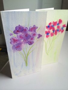 Mother's Day card class, Local Color