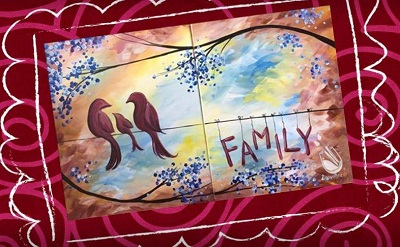 painting with a twist, mother's day family