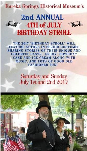 Eureka Springs' Birthday Stroll, 2017