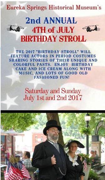 Eureka Springs' Birthday Stroll, 2017