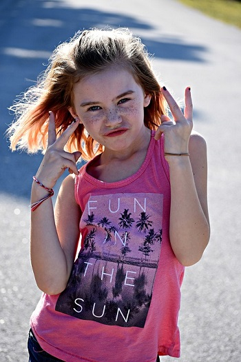 Fun in the Sun girl