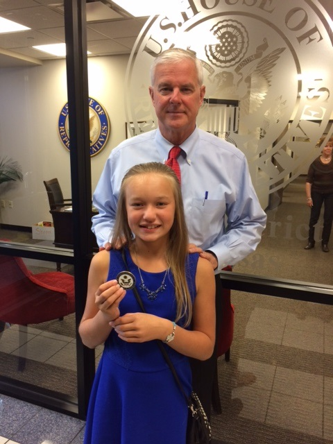 Kat with Congressman Womack