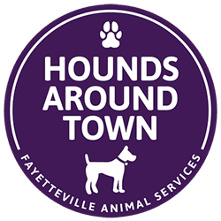 Fayetteville Animal Services, Hounds Around Town program, walk an animal shelter dog, northwest arkansas