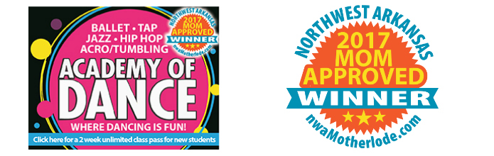 Northwest Arkansas Mom-Approved Award Winner: Academy of Dance