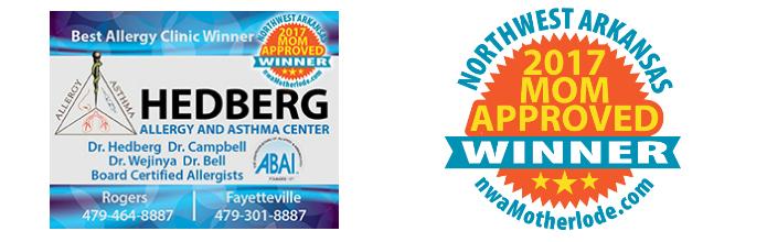 Best Allergy Clinic: Hedberg Asthma & Allergy named 2017 Mom-Approved Award Winner