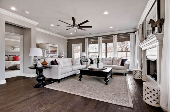 family room Buffington Homes