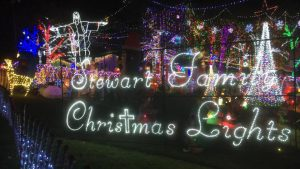 the stewart family christmas light display