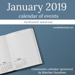 Calendar of Events in Northwest Arkansas: January 2019