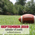 Northwest Arkansas Calendar of Events: September 2019