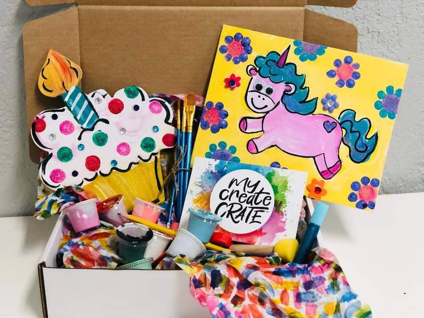 Photo of My Create Crate finished cupcake craft