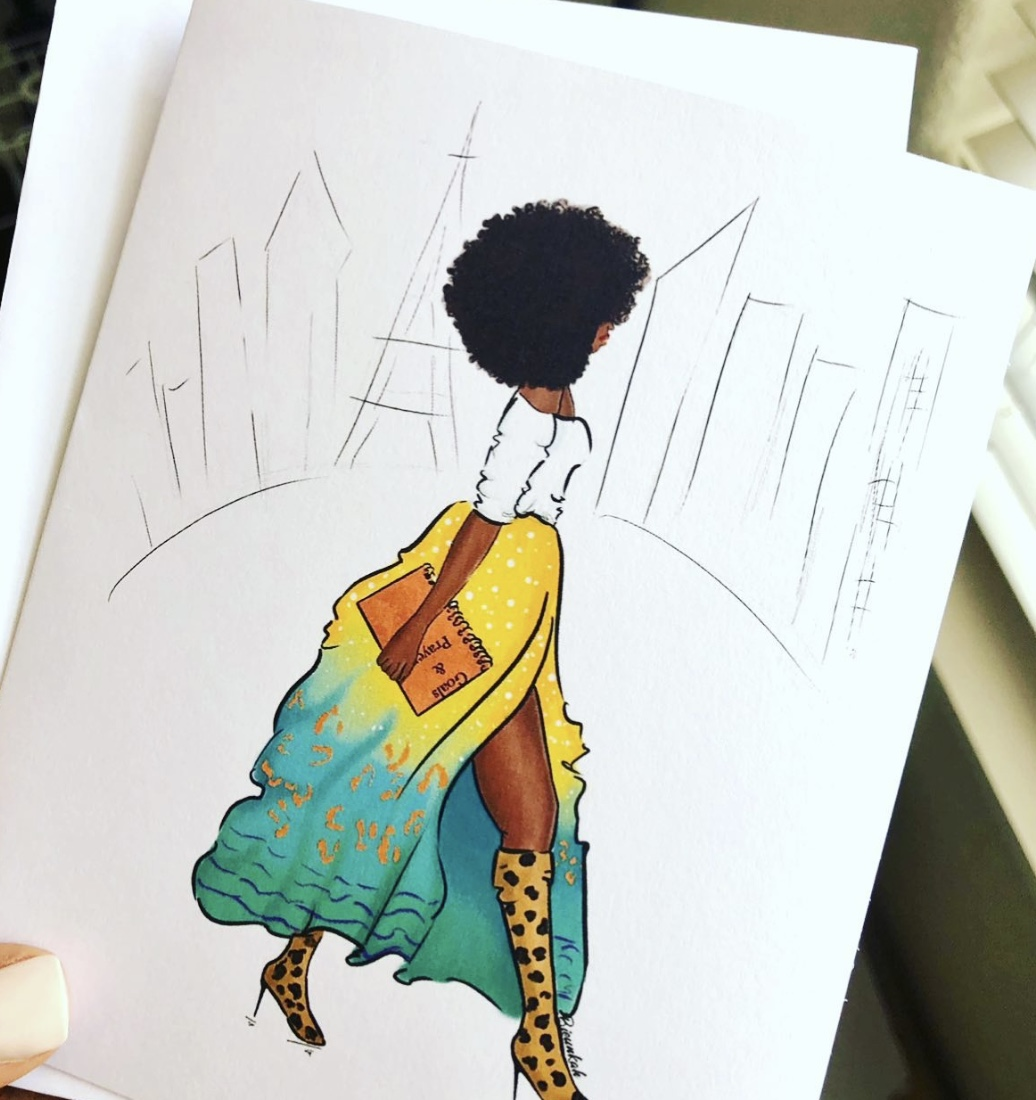 Cloteal Takes on the World Card, Bieunkah Illustrations
