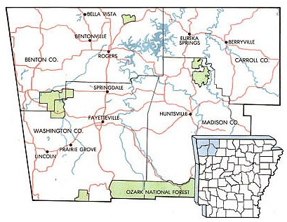 Map Of Northwest Arkansas nwa map   Map Of Northwest Arkansas