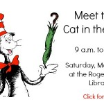 Meet Cat in the Hat this Saturday at Rogers Public Library!
