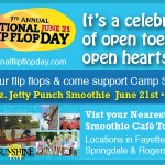 National Flip Flop Day at Tropical Smoothie on June 21st