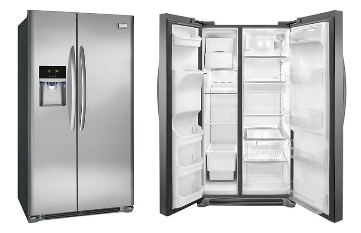 Frigidaire Gallery Refrigerator In A Smudge Proof Stainless Steel Finish Behold The Glamor Shot Below 1collagefridge2017