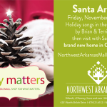 Santa Claus + some great buys at Northwest Arkansas Mall this month!