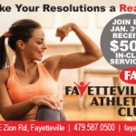 Fayetteville Athletic Club's New Year offer: $500 in free services