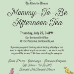 Come by the Mommy-to-Be Tea at Parkhill Clinic in Bentonville July 25, 2019