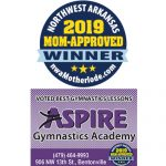 "Aspire Gymnastics voted ""Best Gymnastics"" in 2019 Mom-Approved Awards"